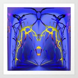 Alien Lightning Art Print