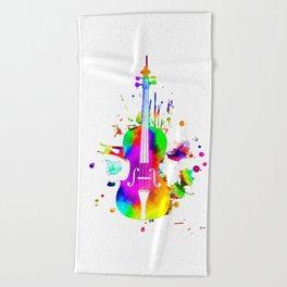 Violin Beach Towel
