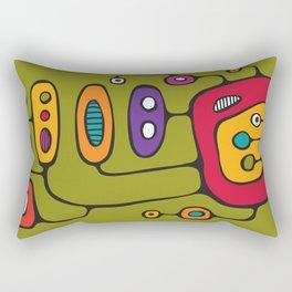 Broadcast in Full Color Rectangular Pillow