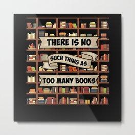 Book Bookshelf Metal Print