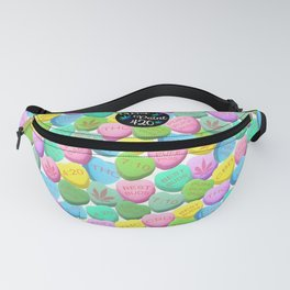 Cannabis Candy Hearts Fanny Pack