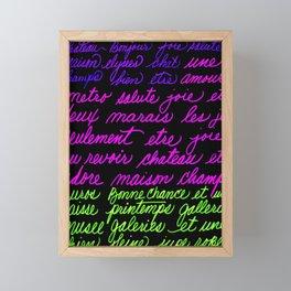 FRENCH LIST Framed Mini Art Print