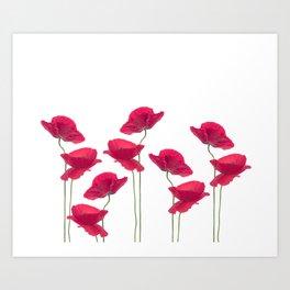 Poppy Love Valentine Art Print