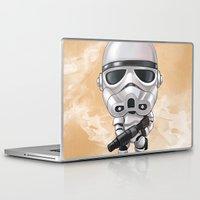 storm trooper Laptop & iPad Skins featuring STORM TROOPER by Leoren