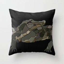 Mellifluous Crocodiles Throw Pillow