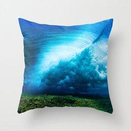 Fijian Surf Throw Pillow