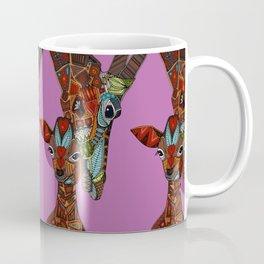 giraffe love orchid Coffee Mug