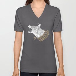 Wolf Protector (Black n Bronze collection) Unisex V-Neck