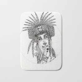 JennyMannoArt Graphite Drawing/Aiyana Bath Mat