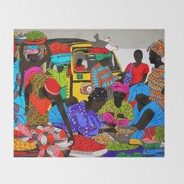african market 1 Throw Blanket