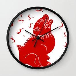 Chinese Dog Wall Clock