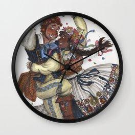 Magnus and Julia Burnsides Wall Clock