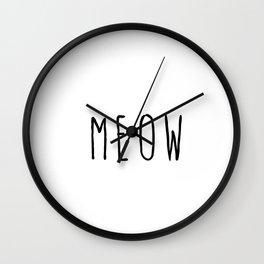 M E O W Wall Clock