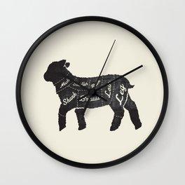 Lamb Butcher Diagram-Sheep  Wall Clock