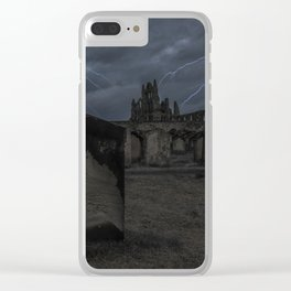Whitby Abbey darkness Clear iPhone Case