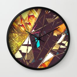Fractured Time Wall Clock