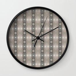 Brown Geometric Stripe Wall Clock