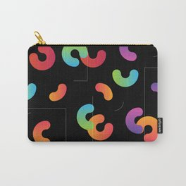 Funny color design. Arcs and Lines #2 Carry-All Pouch