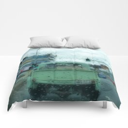 Rainy Days and Vintage Vehicles Comforters