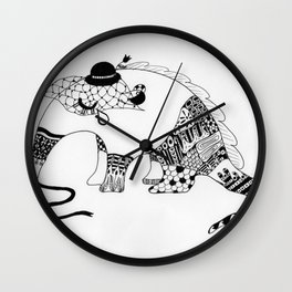 Annie the Antisocial Anteater Wall Clock