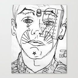 """ a face doesn't lie"" Canvas Print"