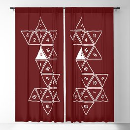 Red Unrolled D20 Blackout Curtain
