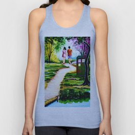 Tardis in a Romantic Place Unisex Tank Top