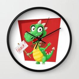 Dragon Says Hola Wall Clock