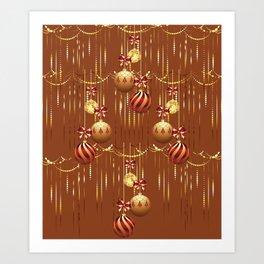 Christmas glass balls Art Print