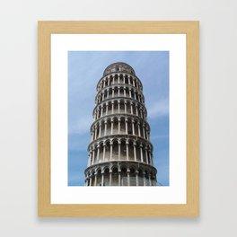 Tower in Pisa Framed Art Print