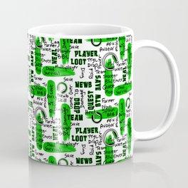 Gamer Lingo-White and Green Coffee Mug