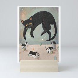 Black Cat Mini Art Print