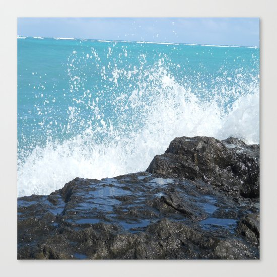 Oahu: Splash 2 Canvas Print
