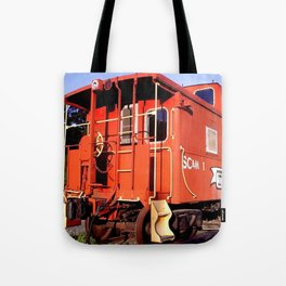 Lil Red Caboose -Wellsboro Ave Hurley ArtRave Tote Bag