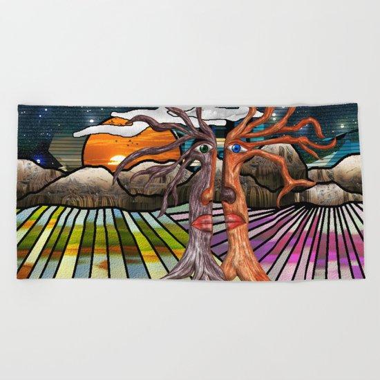 Doodlage 08 - If trees could speak Beach Towel