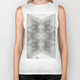 Optical Vibrations in Black and White Biker Tank