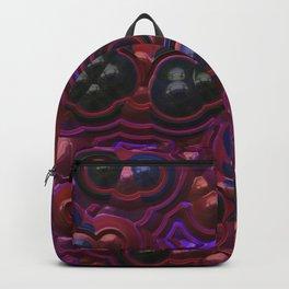 Black violet red metal circles Backpack