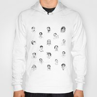 nicolas cage Hoodies featuring 100 Portraits of Nicolas Cage by Madelin Woods