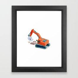 Croco Digger Framed Art Print
