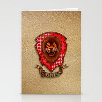 gryffindor Stationery Cards featuring Gryffindor shield emblem by JanaProject