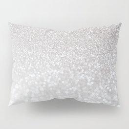 Silver ice - glitter effect- Luxury design Pillow Sham