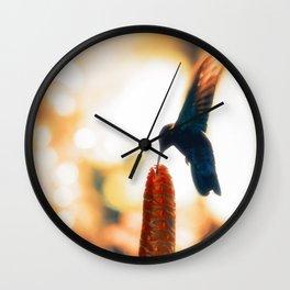 Caribbean Hummingbird Wall Clock