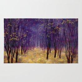 Melancholic autumn forest Rug