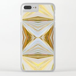 350 - Abstract Palm Fronds Design Clear iPhone Case