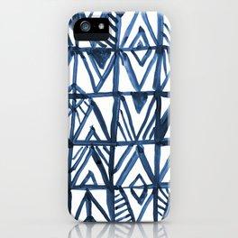 Geometric Indigo iPhone Case