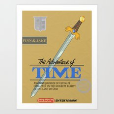 The Adventure of Time Art Print