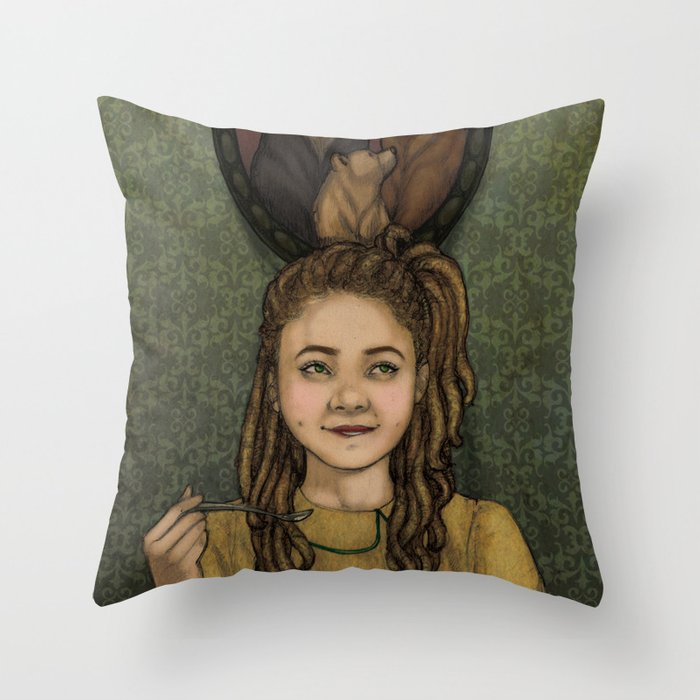 Just Right Throw Pillow