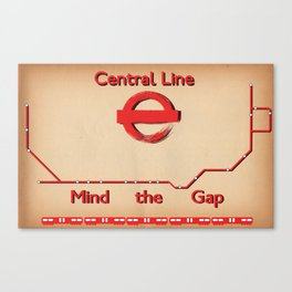 Central Line Canvas Print