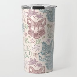 Fox pattern Travel Mug