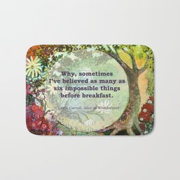 Waiting for Alice Quotable Bath Mat